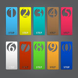 Abstract infographics number options template. Vector illustration Stock Photos