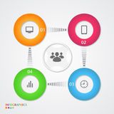 Abstract infographics number options template. Vector illustration Stock Image
