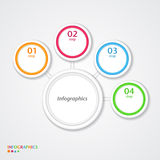 Abstract infographics number options template. Vector illustration Stock Photography