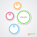 Abstract infographics number options template. Royalty Free Stock Image