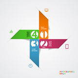 Abstract infographics number options template. Vector illustration Stock Images