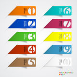 Abstract infographics number options template. Stock Images