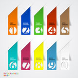 Abstract infographics number options template. Vector illustration Royalty Free Stock Photos