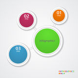 Abstract infographics number options template. Vector illustration Royalty Free Stock Photography
