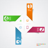 Abstract infographics number options template. Vector illustration Royalty Free Stock Images