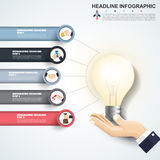 Abstract infographics number options template. Vector  Royalty Free Stock Photo
