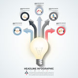 Abstract infographics number options template. Vector  Royalty Free Stock Images