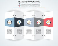 Abstract infographics number options template. Vector  Royalty Free Stock Photos