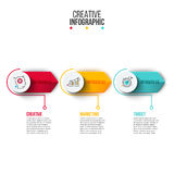 Abstract infographics number options template. Stock Photos
