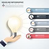 Abstract infographics number options template. Vector illustrati. On. Can be used for workflow layout, diagram, business step options, banner, web design Stock Photos