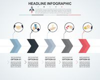 Abstract infographics number options template. Vector illustrati. On. Can be used for workflow layout, diagram, business step options, banner, web design Royalty Free Stock Images