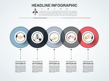 Abstract infographics number options template. Vector illustrati. On. Can be used for workflow layout, diagram, business step options, banner, web design Stock Photography