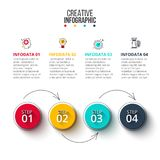 Abstract infographics number options template. Stock Photography