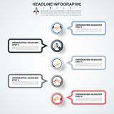 Abstract infographics number options template. Vector illustrati Royalty Free Stock Images