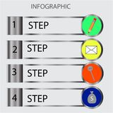 Abstract infographics number options template. Vector illustration. Can be used for workflow layout, diagram, business step option. S, banner, web design stock illustration