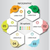 Abstract infographics number options template. Vector illustration. Can be used for workflow layout, diagram, business step option. Design stock illustration