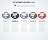 Abstract infographics number options template. Vector illustrati. On. Can be used for workflow layout, diagram, business step option, banner, web design Royalty Free Stock Images