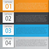 Abstract infographics number options template. Vector illustration. can be used for workflow layout, diagram, business step option. S, banner, web design Stock Photo