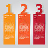Abstract infographics number options template. Vector illustration. can be used for workflow layout, diagram, business step option Royalty Free Stock Images