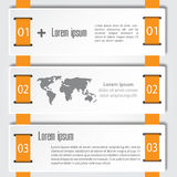 Abstract infographics number options template. Vector illustration. can be used for workflow layout, diagram, business step option Stock Image