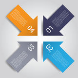 Abstract infographics number options template. Vector illustration. can be used for workflow layout, diagram, business step option Stock Images
