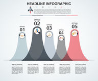 Abstract infographics number options template. Vector  Stock Photos