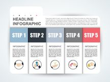 Abstract infographics number options template. Vector illustrati Stock Images