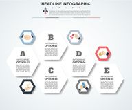 Abstract infographics number options template. Vector illustrati. On. Can be used for workflow layout, diagram, business step options, banner, web design Stock Images
