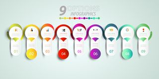 Abstract infographics number template with 3D and option or step. Business concept, Blank space for content, business, infographic, diagram, process ,template vector illustration