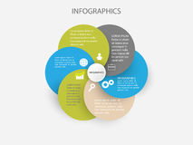 Abstract infographics options banner. Vector illustration. Colored circles Royalty Free Stock Image