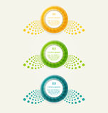 Abstract infographics options banner. Vector illustration. Eps 10 Royalty Free Stock Image