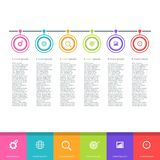 Abstract infographics options template vector illustration 1. Abstract infographics options template vector illustration Stock Photo
