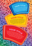 Abstract infographics options template. Workflow layout Royalty Free Stock Photos