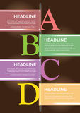 Abstract infographics options template. Workflow layout Royalty Free Stock Photography