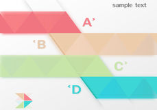 Abstract infographics origami style. Options banner. Can be used for workflow layout, diagram, step options, number options, web design template Stock Image