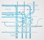 Abstract infographics subway transportation Stock Image