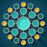Abstract infographics symmetrical colorful circles Royalty Free Stock Image