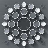 Abstract infographics symmetrical white and gray Stock Photo
