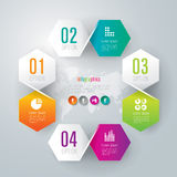 Abstract infographics template design. Abstract infographics template design with numbered paper elements Stock Image