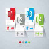 Abstract infographics template design. Abstract infographics template design with numbered paper elements Stock Photography