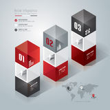 Abstract infographics template design. Abstract infographics template design in glass box shape Royalty Free Stock Image