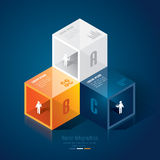 Abstract infographics template design. Abstract infographics template design in glass box shape Stock Image