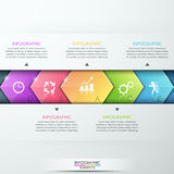 Abstract infographics template design. With glass arrows - vector illustration. Business concept with five options, parts, steps or processes Royalty Free Illustration