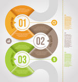 Abstract infographics template design. With numbered paper elements Stock Image