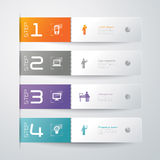Abstract infographics template design. With numbered paper elements Stock Photo