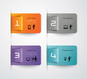 Abstract infographics template design. With numbered paper elements Stock Photography