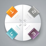 Abstract infographics template design. With numbered paper elements Royalty Free Stock Photos
