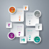 Abstract infographics template design. Stock Image