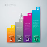 Abstract infographics template design. Abstract infographics template design with numbered paper elements Stock Images
