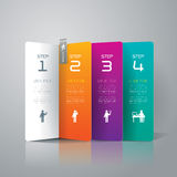 Abstract infographics template design. Stock Photography